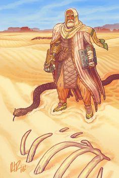 Human male desert druid