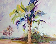 "Landscape Artists International: Palm Tree Coastal Landscape Painting ""Summer Palm"" by Georgia Artist Pat Warren"