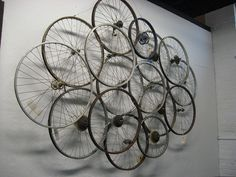 bike wheel art - Google Search