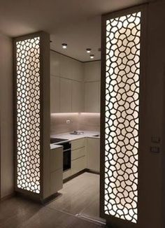 Chic Glass Partition Design Ideas For Your Living Room 46 - Ceiling design Glass Partition Designs, Living Room Partition Design, Pooja Room Door Design, Glass Wall Design, Partition Ideas, Partition Walls, Living Room Divider, Ceiling Design Living Room, Kitchen Room Design