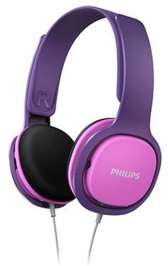 Philips Kids Headphones Pink Ergonomic Adjustable Ultra Lightweight Gift Comfort #Philips