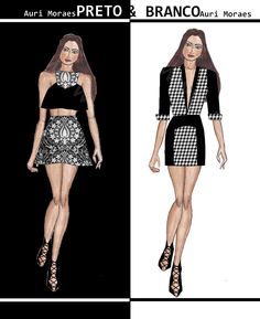 Auriele (desenhos de Moda): PRETO E BRANCO