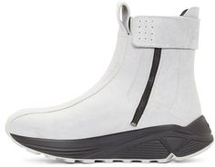 Song for the Mute SSENSE Exclusive Matte Grey Leather Boots