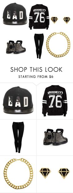 """""""Bad"""" by tiaramb11 ❤ liked on Polyvore featuring This Is a Love Song, River Island, Jane Norman, Converse, Gogo Philip and Charlotte Russe"""