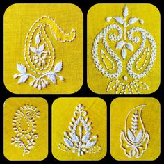 Indian Embroidery Designs, Paisley Embroidery, Hand Embroidery Design Patterns, Hand Embroidery Videos, Hand Embroidery Tutorial, Hand Work Embroidery, Embroidery Flowers Pattern, Hand Embroidery Patterns, Beaded Embroidery