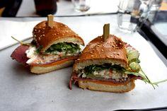 'Grumpy Bear' gluten free pastrami sandwich from Bears and Raccoons in paris