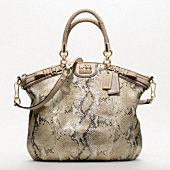Metallic python handbag, finally on its way to me!