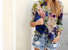 floral & denim