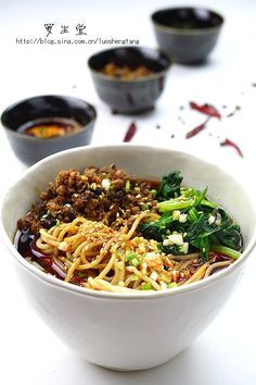 Sichuan noodles with peppery sauce