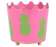 Handbemalter Aufbewahrungsbehälter Pineapple