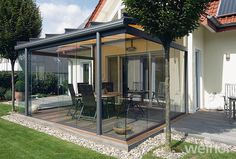 Weinor Glass Room installed on home