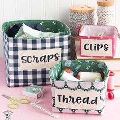 I'm not a naturally organized person, but I can't seem to give up trying! Made a bunch of fabric baskets to organize my creative space in 2018. Grab the tutorial on the blog. @officialcricut (ad) . . . . #cricut #cricutmade #cricutmaker #rileyblake #rileyblakefabric #rileyblakedesigns #melissamortenson #polkadotchair #organization #sewistofinstagram #derbydayfabrics