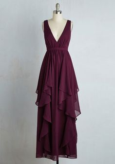 Stately Slow Dance Dress. A softening of the music means its your time to shine as belle of the ballroom in this merlot gown! #red #prom #modcloth