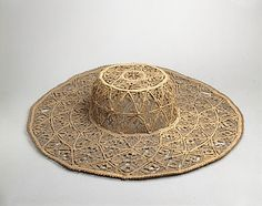 Hat Date: 17th century Culture: British Medium: (a) grass or rush (b, c) lacquered bamboo