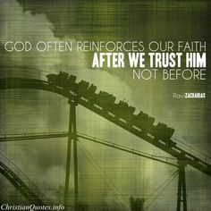 Ravi Zacharias Quote - Faith and Trust |  For more Christian and inspirational quotes, visit www.ChristianQuotes.info #Christianquotes