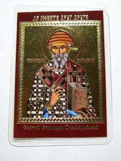 St. Spiridon Trimifiyskiy #icon #orthodox #pocket icon #St.Spiridon