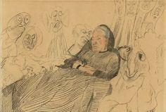 James Ensor. My aunt asleep dreaming of monsters (1888)