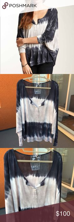 Tie dye top ⭐️WORN ONCE⭐️SMOKE/PET FREE HOME⭐️ Just had dry cleaned! Super soft and loose fit. Young Fabulous & Broke Tops Tees - Long Sleeve
