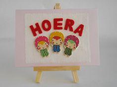 Kinderkaart 'Hoera' van FromHelloToGoodbye op Etsy
