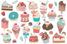 31 Treats & Candy Vector and PNG Set by Kenna Sato Designs on @creativemarket