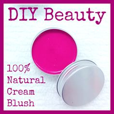 NEW on the blog just in time for spring! DIY Beauty - 100% Natural Cream Blush made with organic shea butter, beet root powder and madder root powder. Aren't natural colors so beautiful and vibrant? Link to post below!