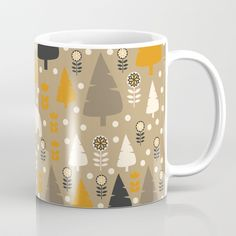 Bears in a winter forest Coffee Mug by cocodes | Society6