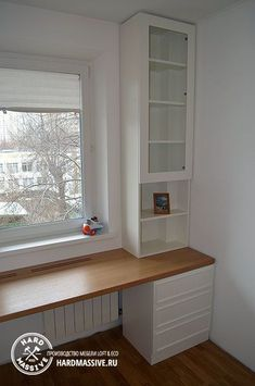 Customized table and cabinet around the window to order - - Modern Home Interior Design, Home Room Design, Kids Room Design, Home Office Design, Home Office Decor, Interior Design Living Room, House Design, Home Decor, Small Room Bedroom