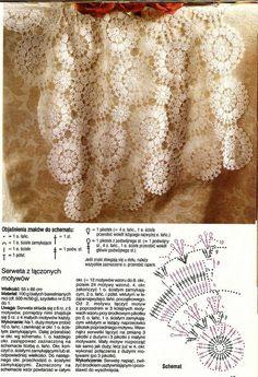 serwetki nowe - TMSGDK - Álbuns da web do Picasa Crochet Squares, Crochet Motif, Crochet Lace, Crochet Table Runner, Crochet Tablecloth, Doily Patterns, Crochet Patterns, Diana, Simply Crochet