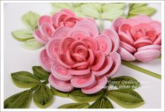 *QUILLING ~ Stereoscopic Rose, Naver blog