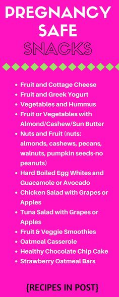 Healthy pregnancy snacks.  lots of healthy and easy ideas…