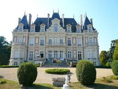 Nears Angers, impressive Napoléon III château built in 1873, in excellent condition, comprising of spacious reception rooms, 17 bedrooms with en-suite bathrooms.