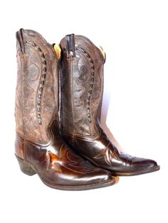 Vintage Durango Cowboy Boots Leather Mens by TheDesertRoseVintage, $99.99