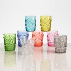 Our eye-catching tumblers have a textured and ornate design. Made of break-resistant acrylic, these festive, fun and colorful glasses are a stylish choice for entertaining inside and out.