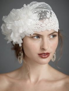Tocados de novia- gorro vintage