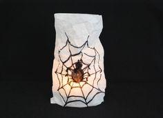 Spinnenlampe basteln - Kinderspiele-Welt.de