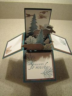 Mountain thank you by jlhoffmann - Cards and Paper Crafts at Splitcoaststampers
