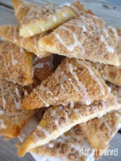 Sugar Crumb Crispy made with Pillsbury Crescent rolls.
