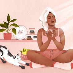 Customize: The Secret to Loving Your Body Isn't Losing Weight – Nestfriend Black Girl Art, Black Women Art, Black Girl Magic, Art Girl, Woman Illustration, Digital Illustration, Fond Pop Art, Black Artwork, Poster S