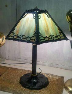 Art Nouveau Slag Glass Edward Miller Lamp Co.