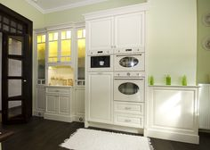 Stacked Washer Dryer, Washer And Dryer, Home Appliances, Mirror, Art, House Appliances, Art Background, Washing And Drying Machine, Mirrors