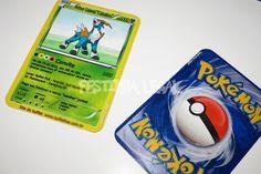 Convite impresso Pokemon igual à CARTA