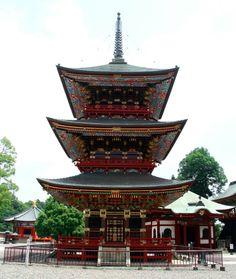 Three story pagoda, Naritasan Shinshoji Temple, Narita, Japan