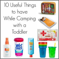 The Thriftiness Miss: 10 Useful Things to Have While Camping with a Toddler