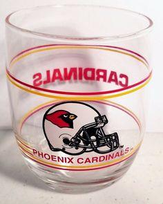 NFL - Mobil Oil Vintage 1989 Phoenix Cardinals Roly Poly Glass