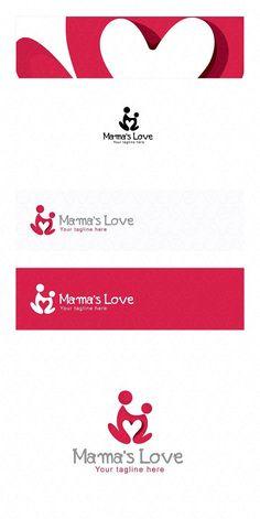 Mama's Care - Human Icon Logo. Human Icons