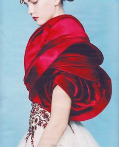 """""""Red Rose"""" by Alexander McQueen, 2008 (wishing this bolero was available for purchase @ 75% off... yep, in my dreams)"""