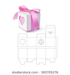 Images, photos et images vectorielles de stock de Box Template Retail Gift Box with Die Cut Template Diy Gift Box, Diy Box, Diy Gifts, Paper Crafts Origami, Origami Box, Origami Folding, Diy Paper Bag, Diy Wooden Crate, Christmas Gifts For Parents