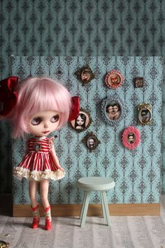 Blythehouse Wall Art - Miniature Doll House framed art - by Mab Graves - super girl. $10.00/£6.47 ~ UtterMabness @ etsy