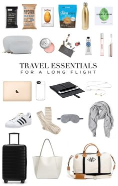 Travel Essentials for a Long Flight There are those travelers who get on the plane and pass out. Or the ones who can just sit there and quietly read a book. And then there are small children and some adults (cue me pointing at myself… Travel Bag Essentials, Road Trip Essentials, Packing Tips For Travel, Airplane Essentials, Travel Necessities, Suitcase Packing, Packing Lists, Budget Travel, Travel Ideas