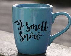 I Smell Snow Adhesive Decal DIY Coffee Mug Cup Tumbler Glass Wine Loralie Rory Gilmore Girls Drinkware Ceramic Quote Espresso Latte Teacup Rory Gilmore, Gilmore Girls Quotes, Coffee Cups, Tea Cups, Girlmore Girls, Coffee Is Life, Coffee Time, Tea Time, Coffee Accessories